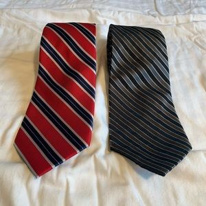 2 Nautica Ties - Diagonally Striped